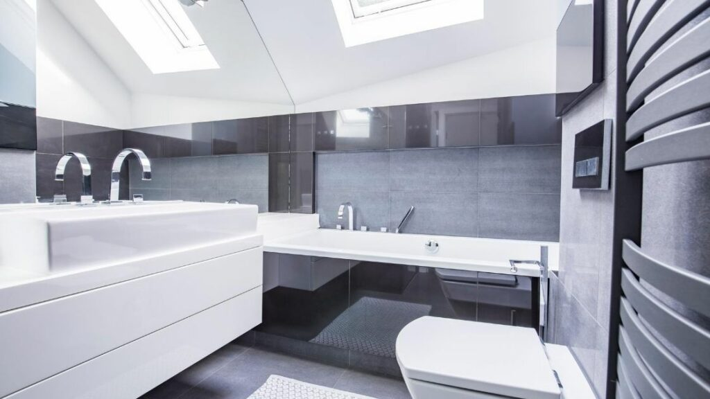 Attic Bathroom Gray