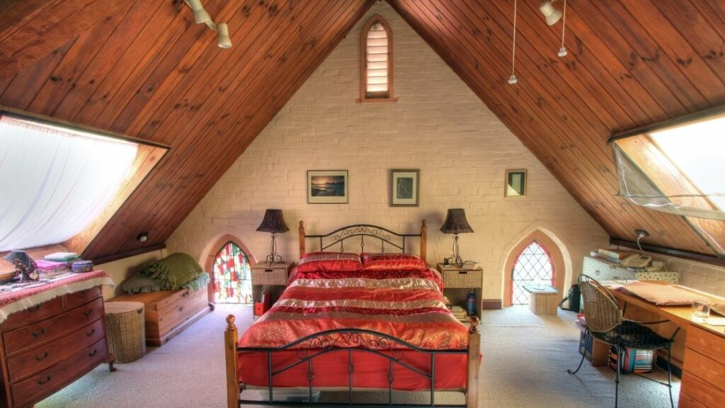 Converted Church Attic Bedroom