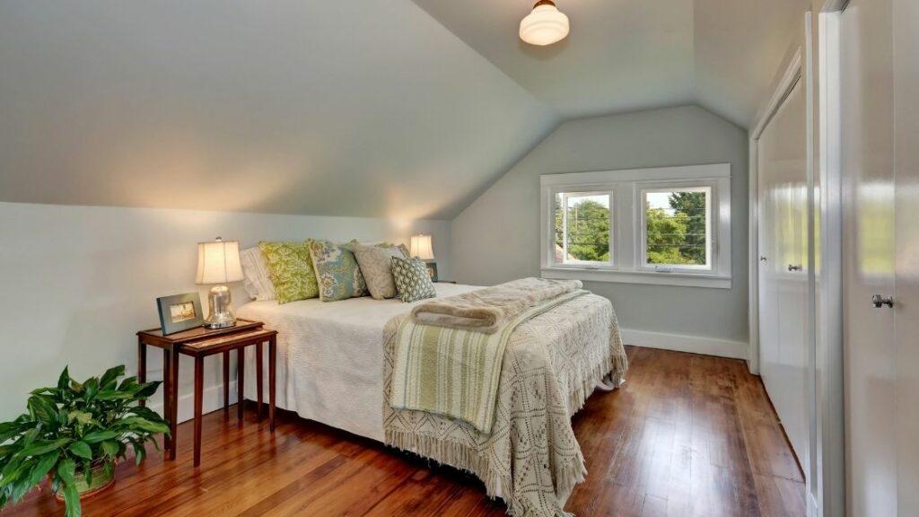 Small Elegant Attic Bedroom
