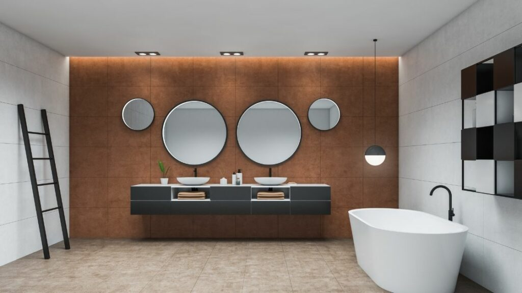 Floating Double Bathroom Vanity.
