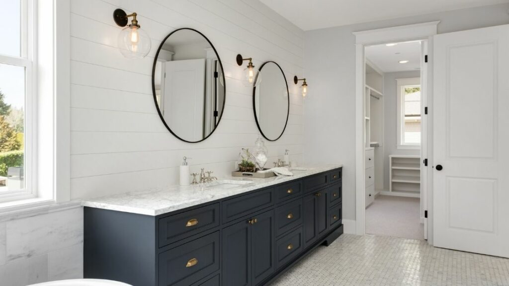 Double Bathroom Vanity Large Mirrors